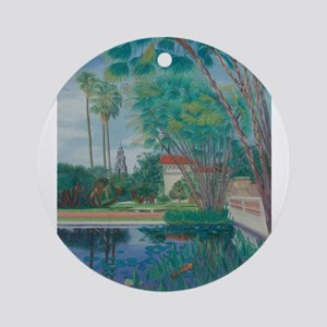 Balboa Park Pond Ornament (Round)