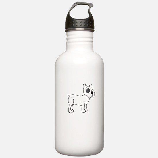 Cute French Bulldog Water Bottle