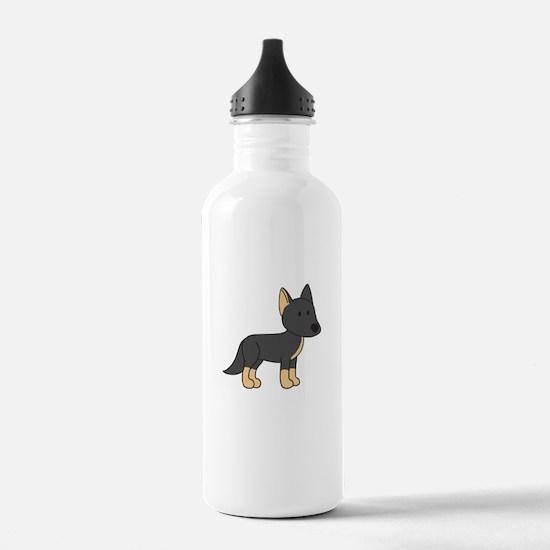 Cute German Shepherd Water Bottle
