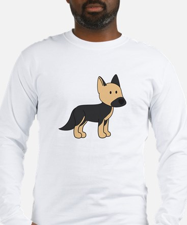 Cute German Shepherd Long Sleeve T-Shirt