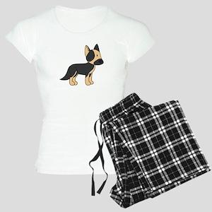 Cute German Shepherd Women's Light Pajamas