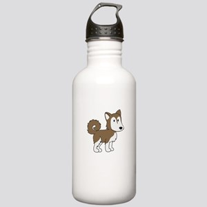 Cute Husky Stainless Water Bottle 1.0L