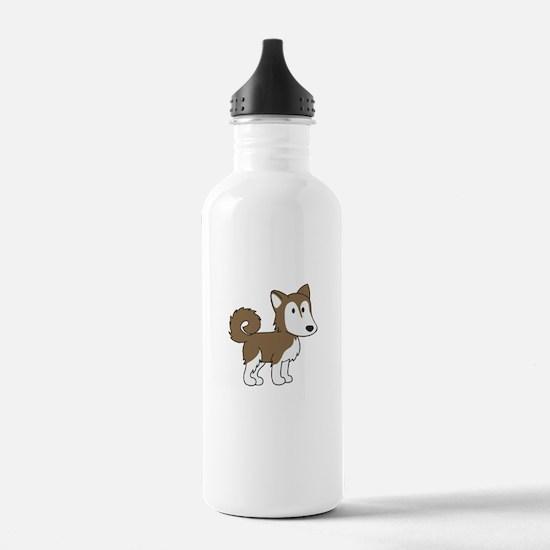 Cute Husky Water Bottle