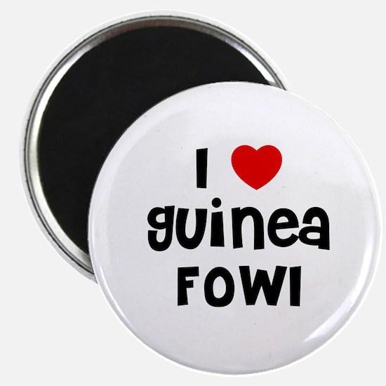 I * Guinea Fowl Magnet