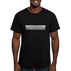 God Made Me An Atheist Men's Fitted T-Shirt (dark)
