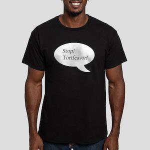 Stop! Tortfeasor! Men's Fitted T-Shirt (dark)
