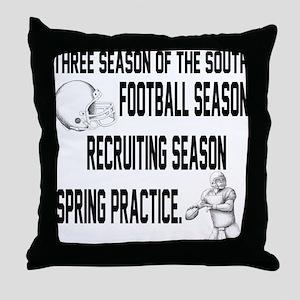 Southern Football Season Throw Pillow