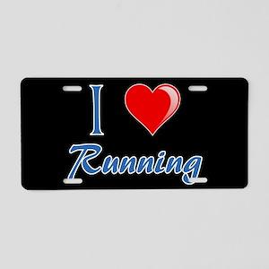 I Heart Running Aluminum License Plate