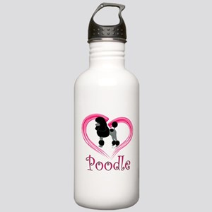 Heart My Poodle Stainless Water Bottle 1.0L