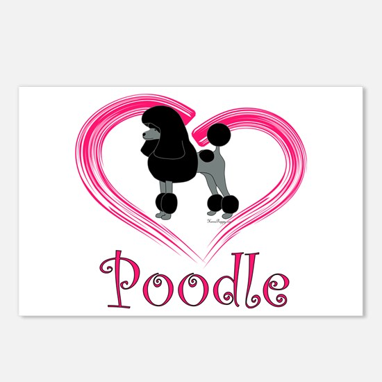 Heart My Poodle Postcards (Package of 8)