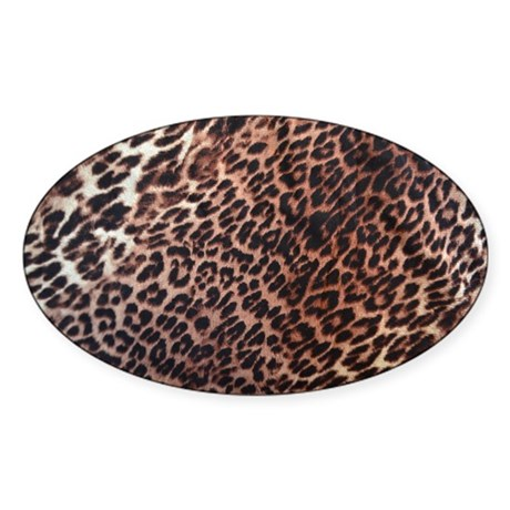 Exotic Leopard Print Sticker (Oval)