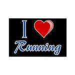 I Heart Running Rectangle Magnet (10 pack)