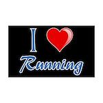 I Heart Running 38.5 x 24.5 Wall Peel