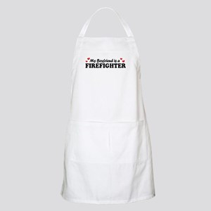 My Boyfriend is a Firefighter BBQ Apron