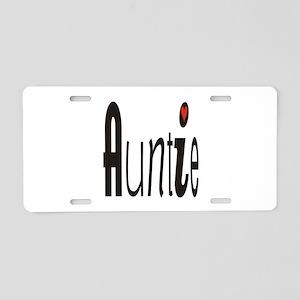 Auntie Aluminum License Plate