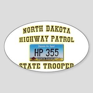 North Dakota Highway Patrol Sticker (Oval)