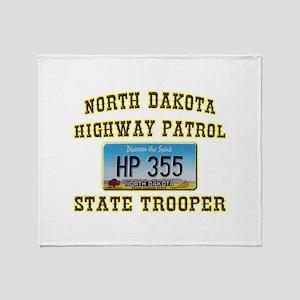 North Dakota Highway Patrol Throw Blanket
