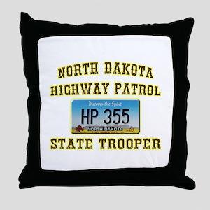 North Dakota Highway Patrol Throw Pillow