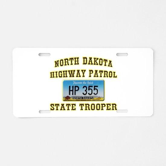 North Dakota Highway Patrol Aluminum License Plate