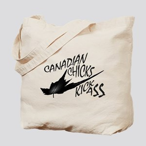 Canadian Chicks Kick Ass Tote Bag