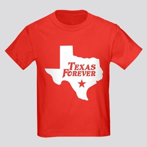 Texas Forever (White - Cutout Ltrs) Kids Dark T-Sh