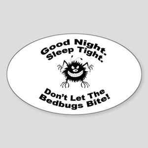 Bedbugs Bite Oval Sticker