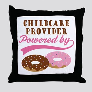 Childcare Provider Gift Doughnuts Throw Pillow