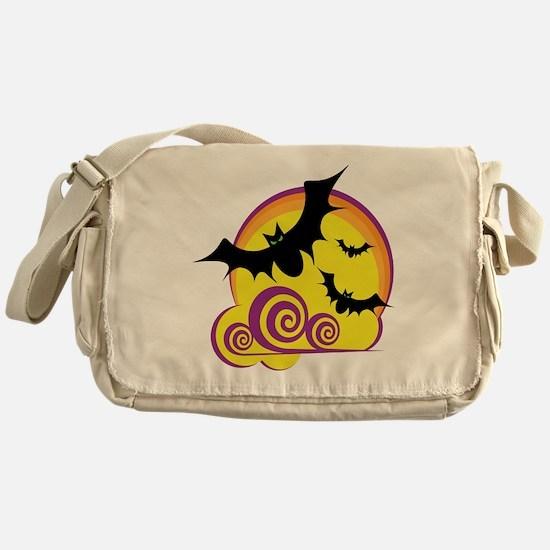 Bats Halloween Messenger Bag