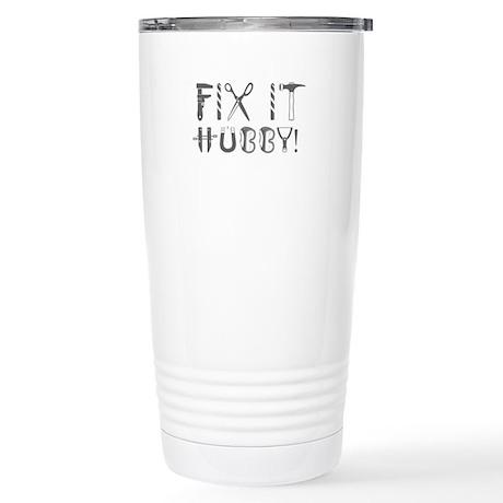 Fix It Hubby_Gray Stainless Steel Travel Mug