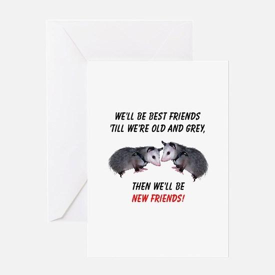Old New Possum Friends Greeting Card