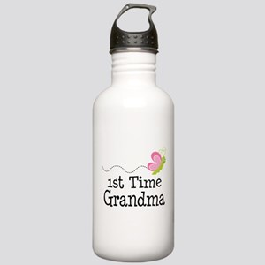 1st Time Grandma Butterfly Stainless Water Bottle