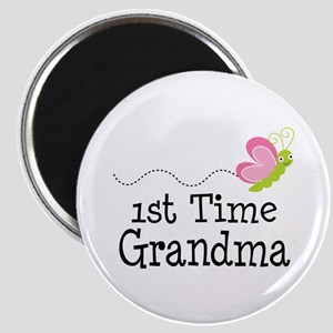 1st Time Grandma Butterfly Magnet