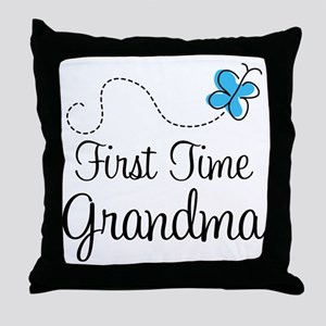 First Time Grandma Throw Pillow