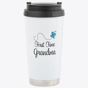 First Time Grandma Stainless Steel Travel Mug
