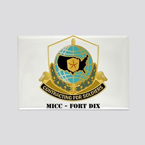 MICC - FORT DIX with Text Rectangle Magnet