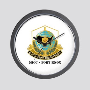 MICC - FORT KNOX with Text Wall Clock