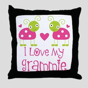 I Love Grammie Ladybug Throw Pillow