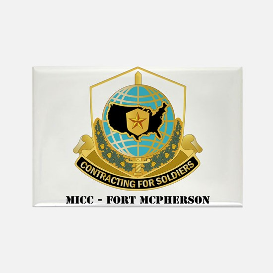 MICC - FORT MCPHERSON with Text Rectangle Magnet