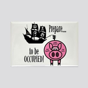 Prepare to Be Occupied Pirate Occupy Rectangle Mag