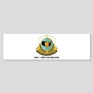 MICC - FORT SAM HOUSTON with Text Sticker (Bumper)