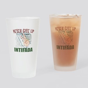 Drinking Glass 'NEVER GIVE UP'
