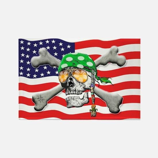 Irish American Pirate Rectangle Magnet