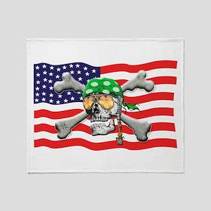 Irish American Pirate Throw Blanket