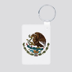 Mexican Coat of Arms Aluminum Photo Keychain