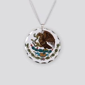 Mexican Coat of Arms Necklace Circle Charm