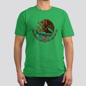 Mexican Coat of Arms Men's Fitted T-Shirt (dark)