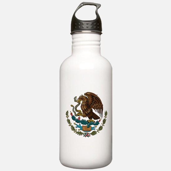 Mexican Coat of Arms Sports Water Bottle