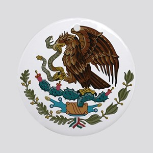 Mexican Coat of Arms Ornament (Round)