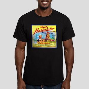 Wisconsin Beer Label 7 Men's Fitted T-Shirt (dark)