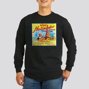 Wisconsin Beer Label 7 Long Sleeve Dark T-Shirt